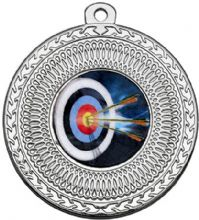 Sliver 50mm Archery Medal